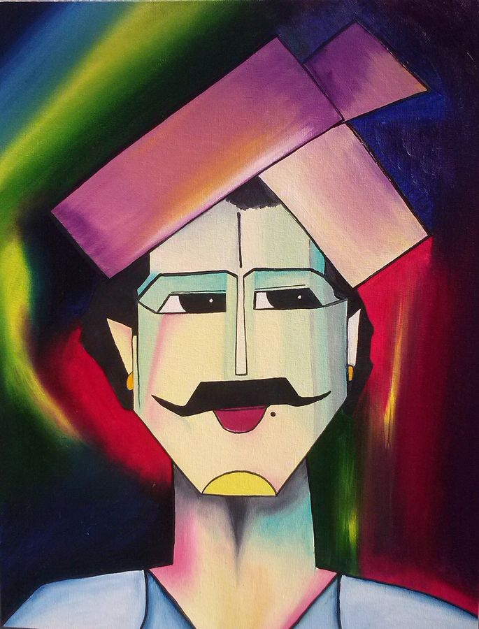 the farmer, 14 x 18 inch, aparna warade,abstract paintings,paintings for living room,canvas,oil paint,14x18inch,GAL089244