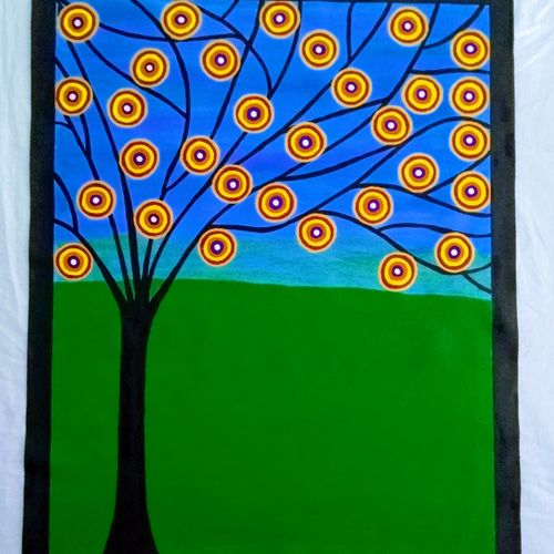 abstract painting - tree, 25 x 31 inch, geeta kwatra,25x31inch,canvas,paintings,abstract paintings,modern art paintings,paintings for living room,paintings for office,paintings for hotel,acrylic color,GAL0899124403