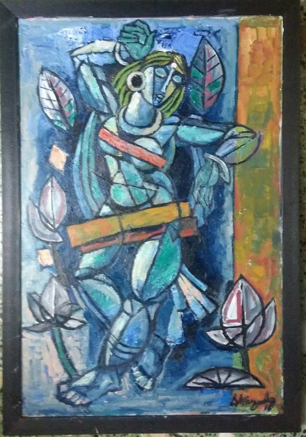 rythm, 24 x 36 inch, debdas maumder,modern art paintings,paintings for living room,canvas,oil paint,24x36inch,GAL06552441