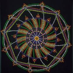 dot mandala, 15 x 11 inch, geeta kwatra,15x11inch,handmade paper,paintings,abstract paintings,paintings for living room,paintings for office,paintings for hotel,paintings for school,acrylic color,GAL0899124420
