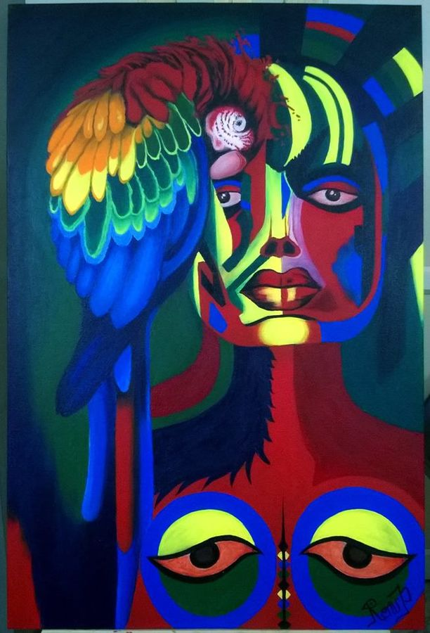 warrior women, 24 x 36 inch, renu  prajapati,conceptual paintings,paintings for living room,canvas,acrylic color,24x36inch,GAL09742443
