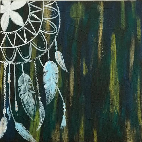 dream catcher, 12 x 12 inch, shagun bhardwaj,12x12inch,canvas,paintings,abstract paintings,paintings for dining room,paintings for living room,paintings for bedroom,paintings for office,paintings for kids room,paintings for hotel,paintings for kitchen,paintings for school,paintings for hospital,acrylic color,GAL01399124439