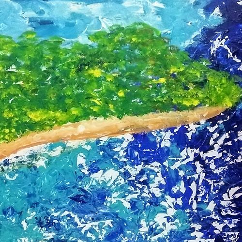 the beach, 36 x 24 inch, jyoti arya,36x24inch,canvas board,paintings,abstract paintings,acrylic color,GAL01380324445