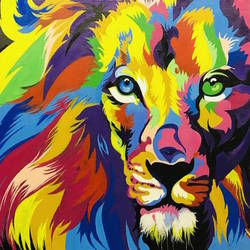 lion acrylic painting on canvas , 24 x 20 inch, pankaj sisodia,24x20inch,canvas,paintings,wildlife paintings,paintings for dining room,paintings for living room,paintings for bedroom,paintings for office,paintings for hotel,acrylic color,GAL0551424460