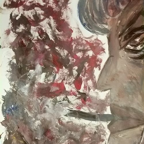 the smoke, 14 x 11 inch, jyoti arya,14x11inch,thick paper,paintings,abstract paintings,figurative paintings,paintings for dining room,paintings for living room,acrylic color,pen color,GAL01380324464