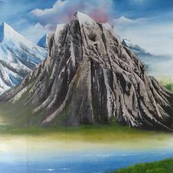 a black rock, 25 x 32 inch, unnati s khare ,25x32inch,canvas,paintings,landscape paintings,paintings for dining room,paintings for living room,paintings for bedroom,paintings for office,paintings for kids room,paintings for hotel,paintings for school,paintings for hospital,oil color,GAL01401624475