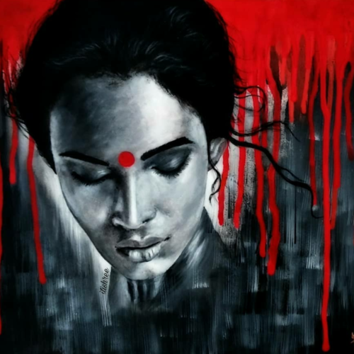 she, 14 x 10 inch, itishree  sahu,14x10inch,thick paper,paintings,abstract paintings,figurative paintings,conceptual paintings,portrait paintings,abstract expressionism paintings,illustration paintings,paintings for living room,paintings for bedroom,paintings for office,paintings for bathroom,paintings for hotel,acrylic color,GAL01387324491