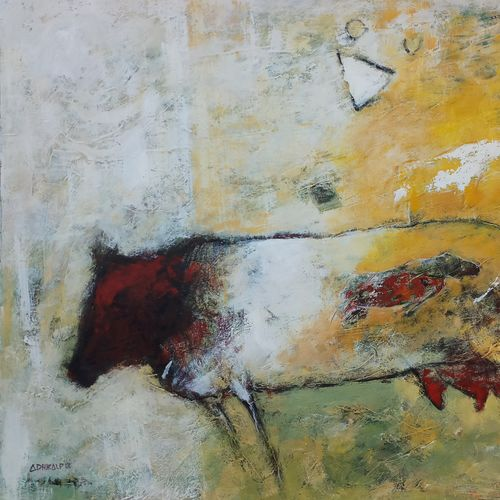 maternity power, 26 x 20 inch, adhikalp yadu,26x20inch,ivory sheet,paintings,abstract paintings,conceptual paintings,abstract expressionism paintings,paintings for living room,paintings for office,paintings for hotel,acrylic color,paper,GAL01402324500