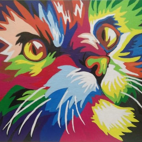 scintillating kitty, 18 x 14 inch, shivranjani  tomar ,18x14inch,canvas,abstract paintings,wildlife paintings,illustration paintings,pop art paintings,animal paintings,children paintings,kids paintings,paintings for bedroom,paintings for office,paintings for kids room,paintings for school,paintings for bedroom,paintings for office,paintings for kids room,paintings for school,acrylic color,GAL01285924508