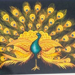 peacock, 9 x 12 inch, karuna  satghare,9x12inch,hardboard,nature paintings,poster color,GAL0779124528