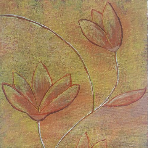 peace , 10 x 14 inch, nazneen khan,flower paintings,paintings for living room,renaissance watercolor paper,acrylic color,10x14inch,GAL09772454