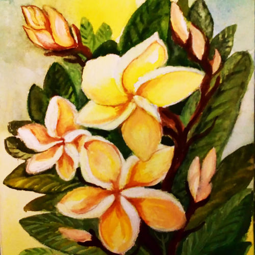white blossoms, 5 x 7 inch, sumana das,5x7inch,thick paper,paintings,flower paintings,nature paintings,photorealism paintings,paintings for dining room,paintings for living room,paintings for office,paintings for hotel,paintings for dining room,paintings for living room,paintings for office,paintings for hotel,watercolor,GAL01396124547