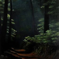 inside the forest, 23 x 34 inch, ratheesan veniyil,23x34inch,canvas,paintings,landscape paintings,nature paintings,paintings for dining room,paintings for living room,paintings for bedroom,oil color,GAL0930924565