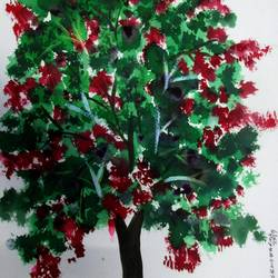 tree of duars-16, 8 x 12 inch, tamal sen sharma,8x12inch,brustro watercolor paper,paintings,mixed media,GAL01201324566