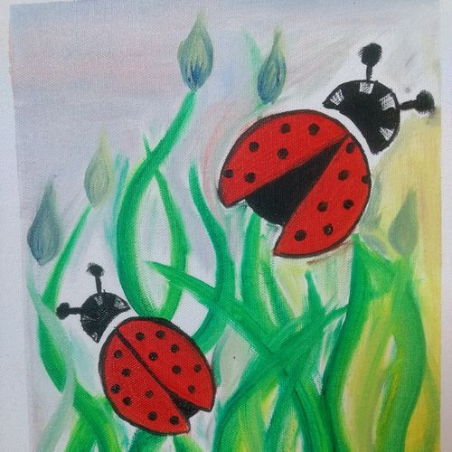 bugs, 10 x 12 inch, padmini suthakar,10x12inch,canvas board,landscape paintings,paintings for living room,art deco drawings,paintings for living room,oil color,GAL01405824594