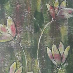 wild lotus, 10 x 14 inch, nazneen khan,paintings for living room,love paintings,renaissance watercolor paper,acrylic color,10x14inch,GAL09772460
