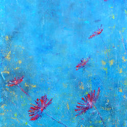 turquoise 3, 18 x 24 inch, cheena madan,18x24inch,canvas,paintings,abstract paintings,flower paintings,modern art paintings,nature paintings,impressionist paintings,contemporary paintings,paintings for dining room,paintings for living room,paintings for office,paintings for kids room,acrylic color,GAL0545124604