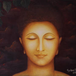 enlightened gautam buddha, 24 x 18 inch, goutami mishra,24x18inch,canvas,paintings,buddha paintings,figurative paintings,modern art paintings,religious paintings,expressionism paintings,contemporary paintings,realistic paintings,paintings for living room,paintings for bedroom,paintings for office,paintings for kids room,paintings for hotel,paintings for school,paintings for hospital,oil color,GAL046524606