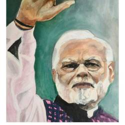 narendra modi , the beloved, 27 x 36 inch, rajinder koul,27x36inch,canvas,paintings,modern art paintings,portrait paintings,contemporary paintings,realistic paintings,paintings for dining room,paintings for living room,paintings for bedroom,paintings for office,paintings for kids room,paintings for hotel,paintings for school,paintings for hospital,acrylic color,GAL01404524608