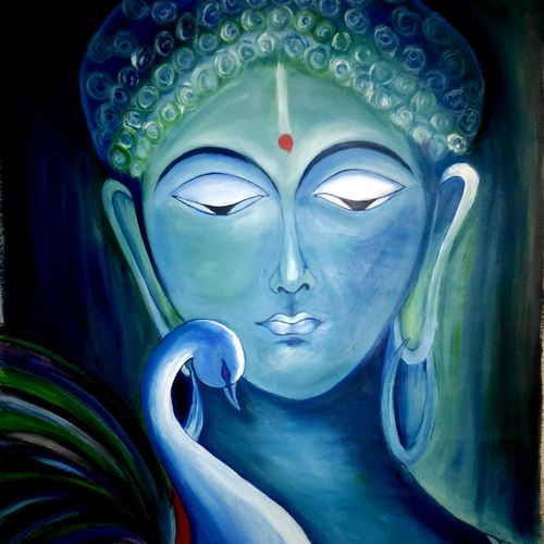 budha painting, 17 x 21 inch, anandi m,17x21inch,canvas,paintings,buddha paintings,paintings for dining room,paintings for living room,paintings for bedroom,paintings for office,paintings for hotel,paintings for school,paintings for hospital,paintings for dining room,paintings for living room,paintings for bedroom,paintings for office,paintings for hotel,paintings for school,paintings for hospital,oil color,GAL0307724631