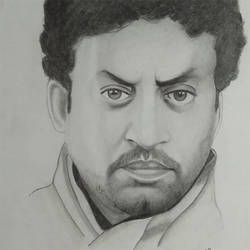 irfan khan, 12 x 17 inch, devender  sharma,12x17inch,drawing paper,drawings,fine art drawings,portrait drawings,realism drawings,charcoal,pencil color,paper,GAL01405524636
