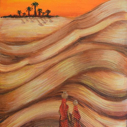mirage, 18 x 24 inch, jigisha  dwivedi,conceptual paintings,nature paintings,paintings for living room,paintings for office,canvas,acrylic color,18x24inch,GAL08762466Nature,environment,Beauty,scenery,greenery