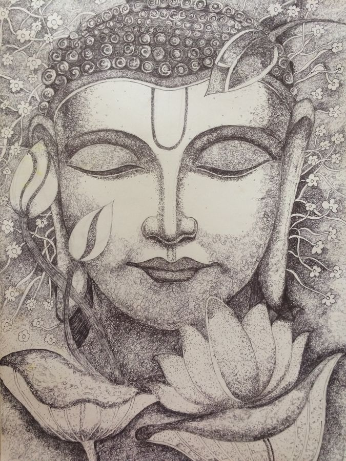 divine peace, 12 x 17 inch, shweta jaju,12x17inch,paper,buddha paintings,paintings for living room,paintings for bedroom,paintings for office,paintings for hotel,paintings for school,paintings for living room,paintings for bedroom,paintings for office,paintings for hotel,paintings for school,ink color,mixed media,pen color,GAL01036024664