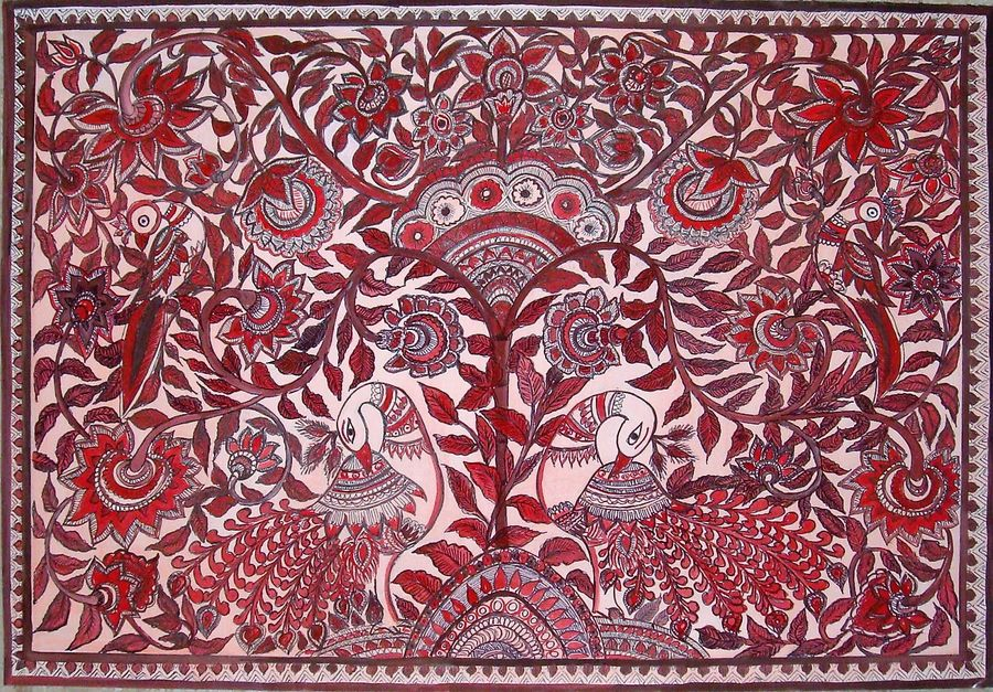 monochromatic peacock kalamkari style, 21 x 15 inch, padmini abrol,21x15inch,cartridge paper,paintings,folk art paintings,nature paintings,animal paintings,madhubani paintings,kalamkari painting,paintings for dining room,paintings for living room,paintings for bedroom,paintings for office,paintings for bathroom,paintings for kids room,paintings for hotel,paintings for kitchen,paintings for school,paintings for hospital,poster color,GAL0314924688