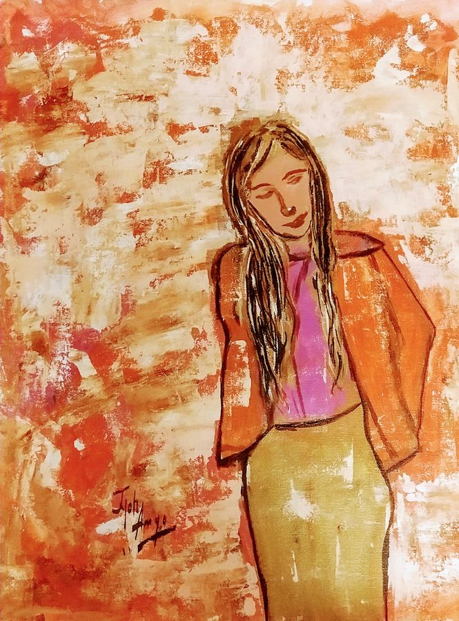 attitude, 21 x 18 inch, jyoti arya,21x18inch,canvas,paintings,figurative paintings,modern art paintings,expressionism paintings,paintings for dining room,paintings for living room,paintings for bedroom,paintings for office,paintings for hotel,pen color,GAL01380324697