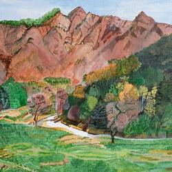 royal springs, autumn hues, 20 x 16 inch, kamakshi jamwal,20x16inch,canvas board,paintings,children paintings,paintings for dining room,paintings for bedroom,paintings for office,paintings for bathroom,paintings for hotel,paintings for school,paintings for hospital,acrylic color,GAL0313724713