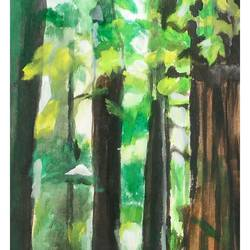 enchanting woods, 14 x 36 inch, rajinder koul,14x36inch,canvas,paintings,abstract paintings,wildlife paintings,flower paintings,landscape paintings,modern art paintings,nature paintings,paintings for dining room,paintings for living room,paintings for bedroom,paintings for office,paintings for bathroom,paintings for kids room,paintings for hotel,paintings for kitchen,paintings for school,paintings for hospital,acrylic color,GAL01404524756