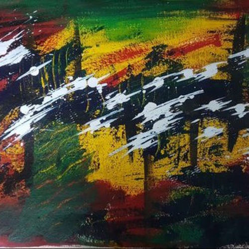 psychedelic , 17 x 15 inch, satinder  kaur,17x15inch,handmade paper,abstract paintings,paintings for dining room,paintings for living room,paintings for bedroom,paintings for hotel,paintings for school,paintings for hospital,paintings for dining room,paintings for living room,paintings for bedroom,paintings for hotel,paintings for school,paintings for hospital,acrylic color,GAL01414024762