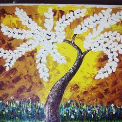 tree of feelings, 16 x 12 inch, vimal drall,16x12inch,canvas,paintings,abstract paintings,nature paintings,acrylic color,GAL01417724765
