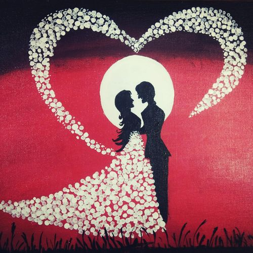 made for each other, 46 x 36 inch, vimal drall,46x36inch,canvas,paintings,love paintings,paintings for bedroom,acrylic color,GAL01417724783