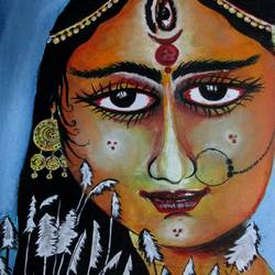 devi durga-1, 7 x 10 inch, tamal sen sharma,7x10inch,thick paper,paintings,figurative paintings,religious paintings,portrait paintings,miniature painting.,paintings for dining room,paintings for living room,paintings for bedroom,paintings for office,paintings for bathroom,paintings for kids room,paintings for hotel,paintings for kitchen,paintings for school,paintings for hospital,mixed media,GAL01201324798