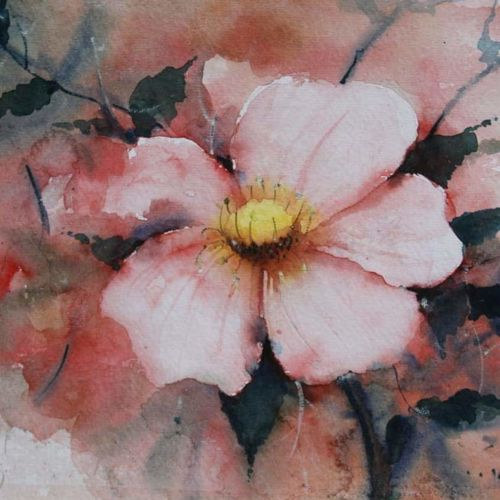 flower, 12 x 9 inch, vivek anand,12x9inch,handmade paper,paintings,flower paintings,paintings for living room,watercolor,GAL0366024806