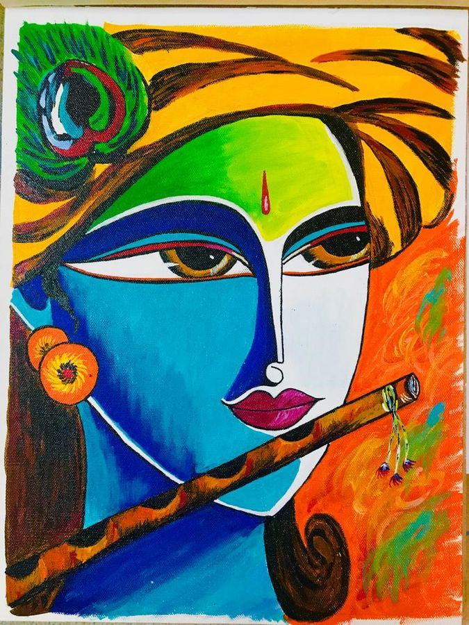 Buy Colourful Krishna Painting At Lowest Price By Alisha Drall