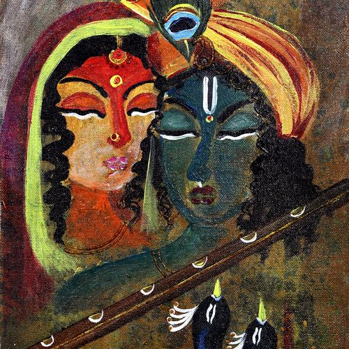 radha krishna, 10 x 20 inch, manisha adhikari kiroula,10x20inch,canvas,paintings,modern art paintings,religious paintings,radha krishna paintings,paintings for living room,paintings for bedroom,paintings for office,paintings for kids room,paintings for hotel,paintings for school,paintings for hospital,acrylic color,GAL01416824812