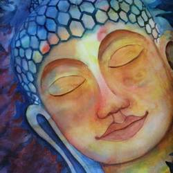 gautama buddha, 15 x 22 inch, vivek anand,15x22inch,fabriano sheet,buddha paintings,paintings for living room,paintings for office,paintings for living room,paintings for office,watercolor,GAL0366024816