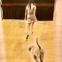 man's best friend, 30 x 22 inch, jahanvi kumari,30x22inch,paper,paintings,conceptual paintings,realism paintings,dog painting,paintings for dining room,paintings for living room,paintings for bedroom,paintings for office,paintings for bathroom,paintings for kids room,paintings for hotel,paintings for kitchen,paintings for school,paintings for hospital,paintings for dining room,paintings for living room,paintings for bedroom,paintings for office,paintings for bathroom,paintings for kids room,paintings for hotel,paintings for kitchen,paintings for school,paintings for hospital,charcoal,mixed media,pastel color,pencil color,GAL01421224821