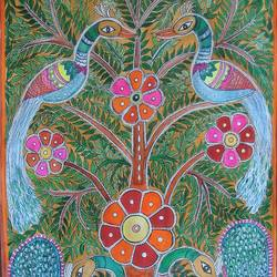 intricate kalamkari style, 21 x 15 inch, padmini abrol,21x15inch,cartridge paper,paintings,wildlife paintings,flower paintings,illustration paintings,animal paintings,madhubani paintings,kalamkari painting,paintings for dining room,paintings for living room,paintings for bedroom,paintings for office,paintings for bathroom,paintings for kids room,paintings for hotel,paintings for kitchen,paintings for school,paintings for hospital,pastel color,watercolor,GAL0314924849