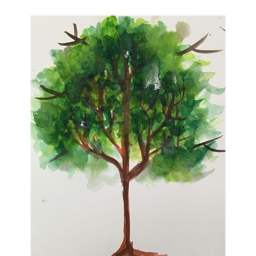 lush tree, 8 x 12 inch, suvrojit choudhury,8x12inch,paper,paintings,conceptual paintings,paintings for dining room,paintings for living room,paintings for bedroom,paintings for office,paintings for bathroom,paintings for kids room,paintings for hotel,paintings for kitchen,paintings for school,paintings for hospital,watercolor,GAL0289124861