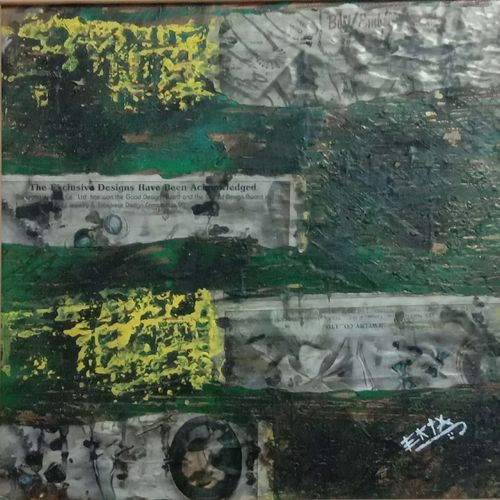 untitled, 18 x 18 inch, ekta dadhich,18x18inch,canvas board,paintings,abstract paintings,mixed media,GAL01421424868
