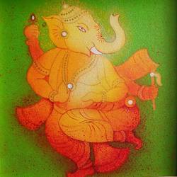 ganeshji, 12 x 12 inch, madhavi jawale,ganesha paintings,paintings for living room,paintings for office,canvas,acrylic color,12x12inch,GAL010012489,vinayak,ekadanta,ganpati,lambodar,peace,devotion,religious,lord ganesha,lordganpati,ganpati bappa morya,ganesh chaturthi,ganesh murti,elephant god,religious,lord ganesh,ganesha,om,hindu god,shiv parvati, putra,bhakti,blessings,aashirwad,pooja,puja,aarti,ekdant,vakratunda,lambodara,bhalchandra,gajanan,vinayak,prathamesh,vignesh,heramba,siddhivinayak,mahaganpati,omkar,mushak,mouse,ladoo,modak