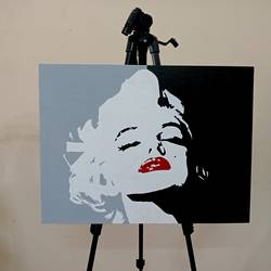 marilyn monroe, 24 x 18 inch, umakant choudhary,24x18inch,canson paper,paintings,figurative paintings,modern art paintings,portrait paintings,pop art paintings,street art,paintings for living room,paintings for bedroom,paintings for hotel,acrylic color,GAL01424524914