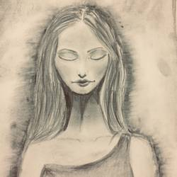 inner strength, 6 x 11 inch, surbhi razdan,6x11inch,paper,drawings,paintings for dining room,paintings for living room,paintings for bedroom,expressionism drawings,paintings for dining room,paintings for living room,paintings for bedroom,charcoal,graphite pencil,GAL01424024924