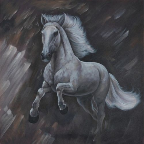 horse power, 30 x 30 inch, vishal shrimani,30x30inch,canvas,wildlife paintings,portrait paintings,art deco paintings,acrylic color,oil color,GAL0911424934