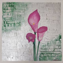 pink lilies , 12 x 12 inch, neha bhatkar,12x12inch,canvas,paintings,modern art paintings,paintings for dining room,paintings for living room,paintings for bedroom,paintings for office,paintings for bathroom,paintings for kids room,paintings for hotel,paintings for kitchen,paintings for school,paintings for hospital,acrylic color,GAL01401524948