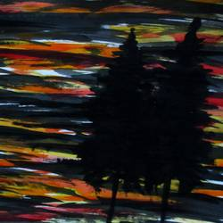 good evening, 17 x 10 inch, tamal sen sharma,17x10inch,cartridge paper,paintings,nature paintings,miniature painting.,paintings for dining room,paintings for living room,paintings for bedroom,paintings for office,paintings for bathroom,paintings for kids room,paintings for hotel,paintings for kitchen,paintings for school,paintings for hospital,acrylic color,mixed media,GAL01201324950