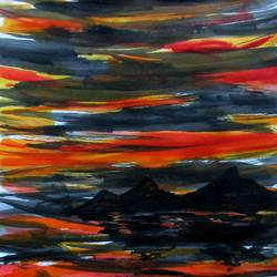 indian ocean, 17 x 10 inch, tamal sen sharma,17x10inch,cartridge paper,paintings,nature paintings,miniature painting.,paintings for dining room,paintings for living room,paintings for bedroom,paintings for office,paintings for bathroom,paintings for kids room,paintings for hotel,paintings for kitchen,paintings for school,paintings for hospital,acrylic color,mixed media,GAL01201324958